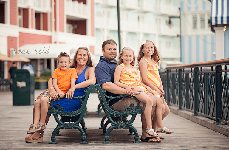 Disney boardwalk orlando family photographer
